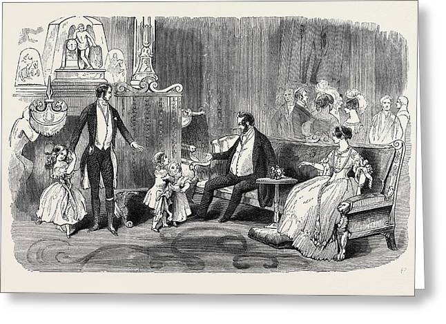 Visit Of The King Of The French To Queen Victoria Greeting Card by English School