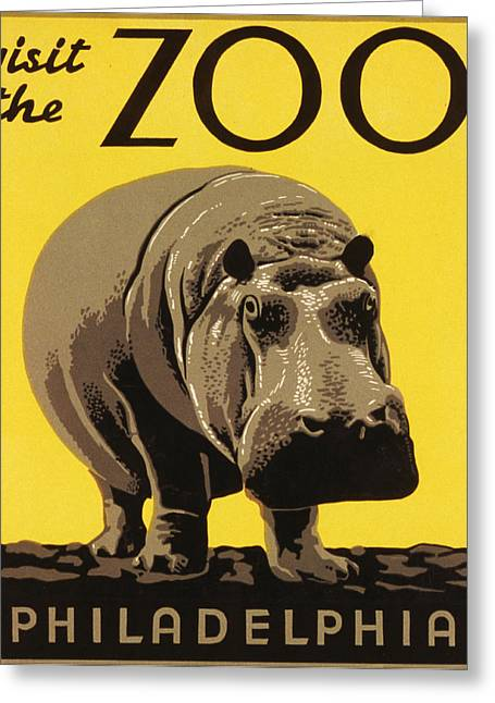 Visit The Philadelphia Zoo Greeting Card by Bill Cannon
