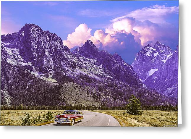 Greeting Card featuring the photograph Visit Wyoming by Ed Dooley