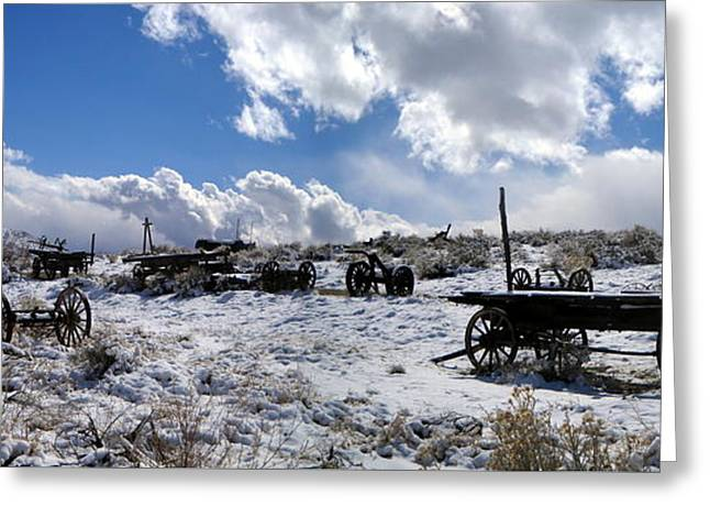 Visiting The Wild West Greeting Card by Marilyn Diaz