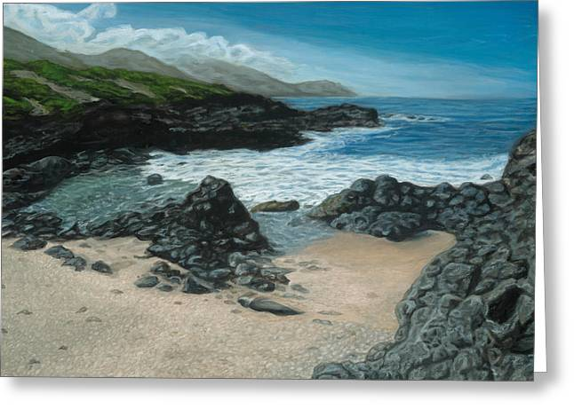 Visitor At Kaena Point Greeting Card