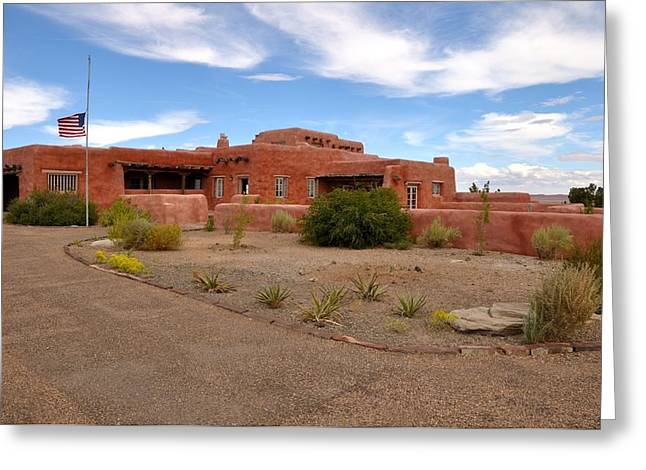 Visitor Center At Painted Desert Greeting Card by Gene Sherrill