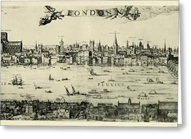 Visscher's View Of London Greeting Card