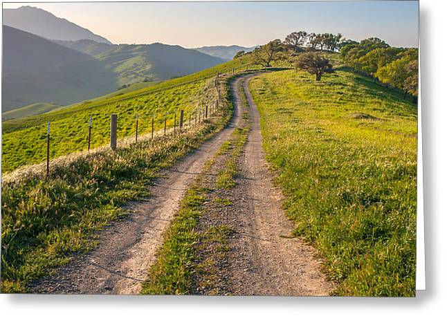 Vista Grande Trail And Mt Diablo Greeting Card