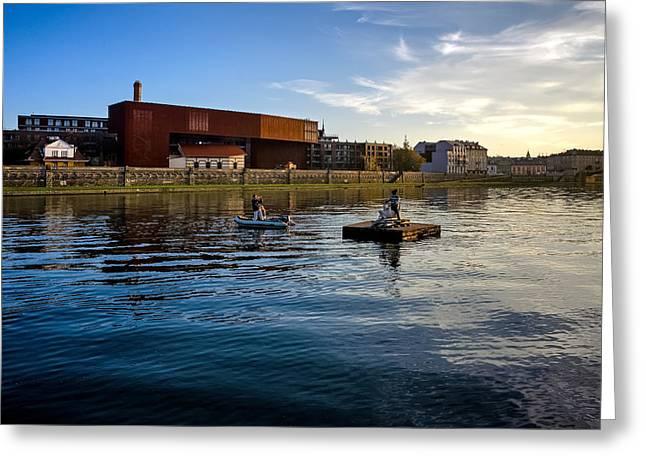 Vistula River Greeting Card by Tomasz Dziubinski