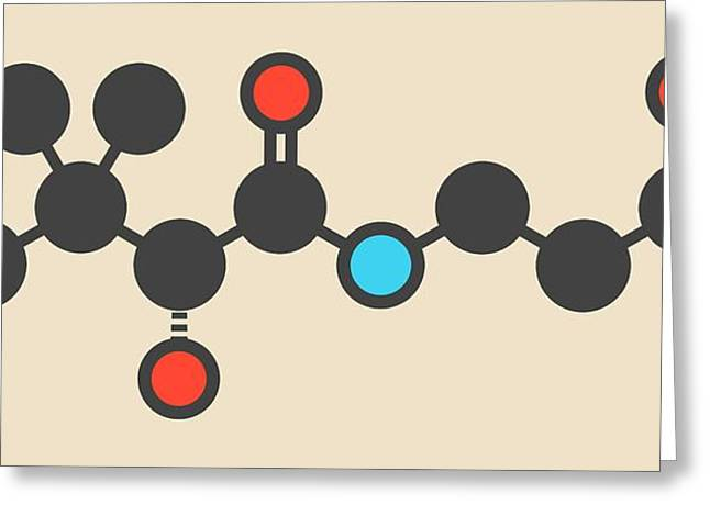 Vitamin B5 Molecule Greeting Card