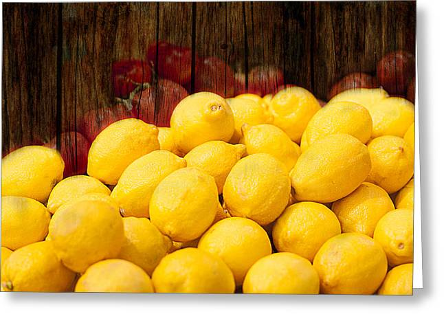 Vitamin C Greeting Card by Gunter Nezhoda