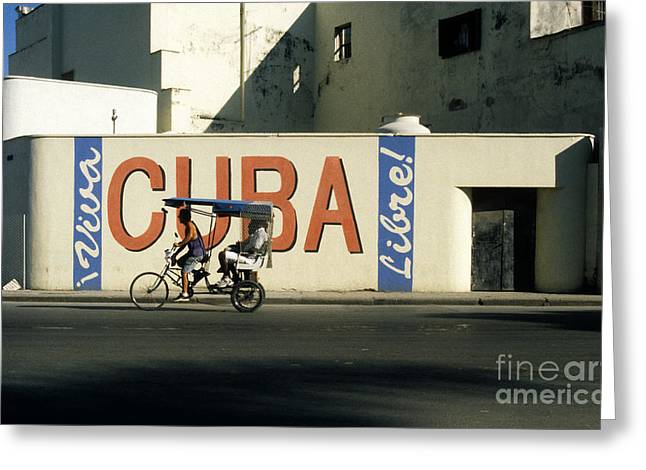 Viva Cuba Libre Greeting Card by James Brunker