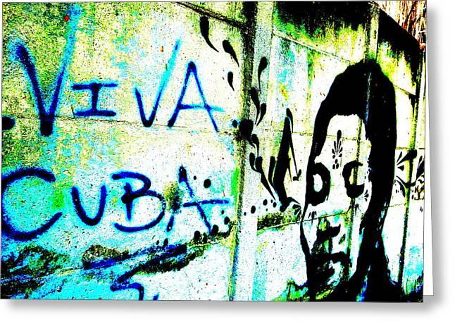 Viva Cuba Street Art Greeting Card