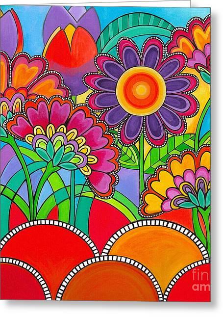 Viva La Spring Greeting Card by Carla Bank