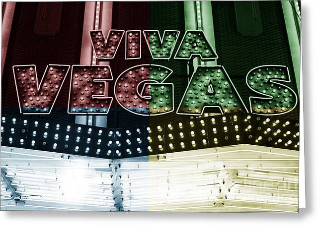 Viva Vegas Fusion Greeting Card by John Rizzuto