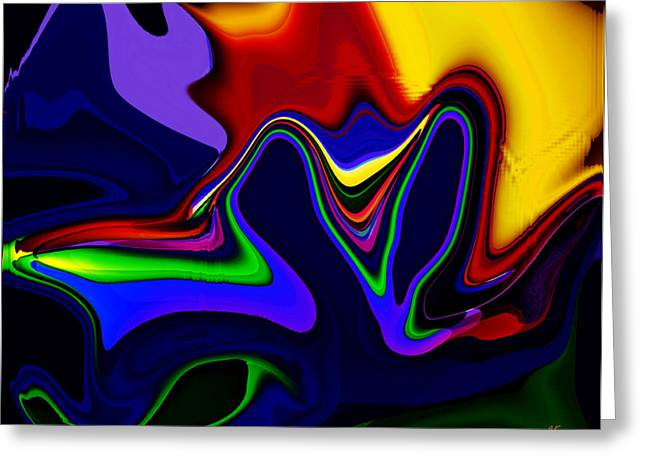 Vivacity  - Abstract  Greeting Card by Gerlinde Keating - Galleria GK Keating Associates Inc