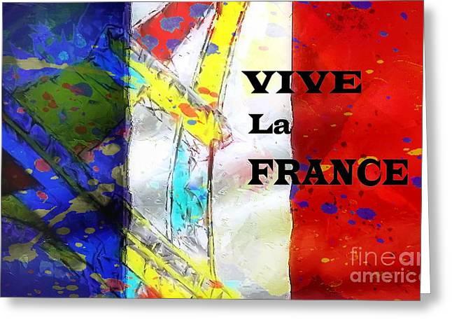 Vive La France Greeting Card by Brian Raggatt