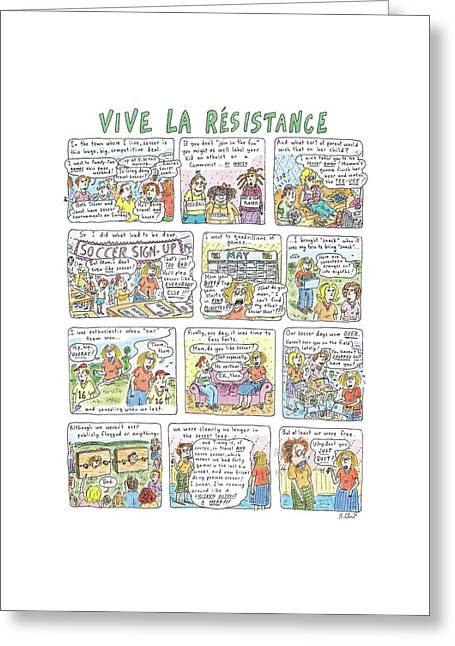 Vive La Resistance Greeting Card by Roz Chast