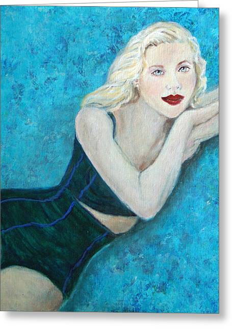 Vivian Lady Of The Lake Greeting Card by The Art With A Heart By Charlotte Phillips