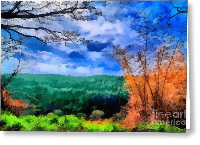Vivid Landscape Greeting Card by George Paris