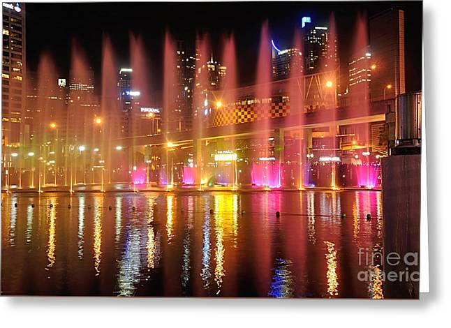 Vivid Sydney By Kaye Menner -  Vivid Aquatique  Greeting Card by Kaye Menner