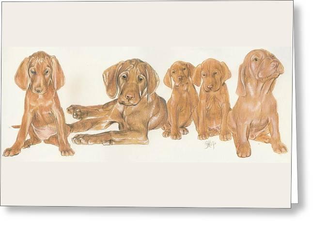 Vizsla Puppies Greeting Card