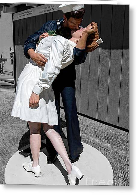Vj-day Greeting Card by Jon Burch Photography