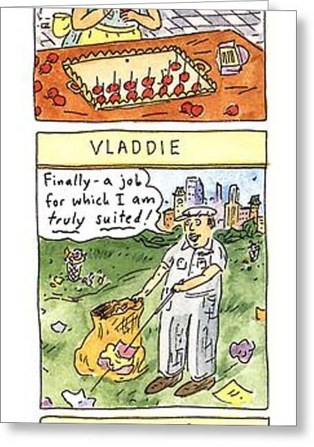 Vlad The Impaler's Descendants Greeting Card by Roz Chast