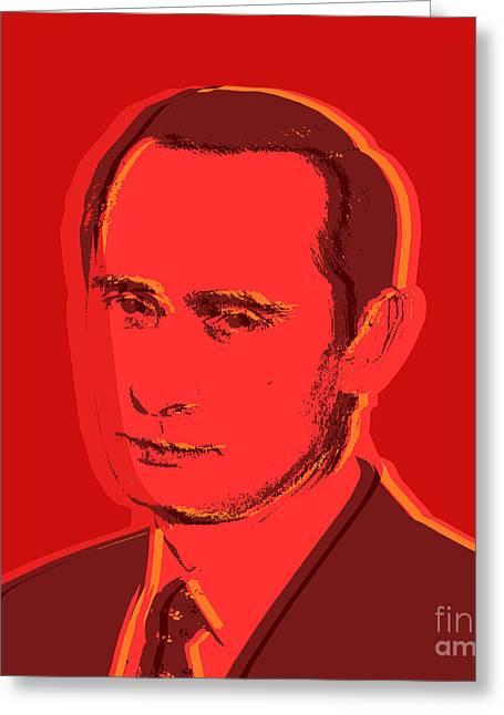 Vladimir Putin Greeting Card by Jean luc Comperat