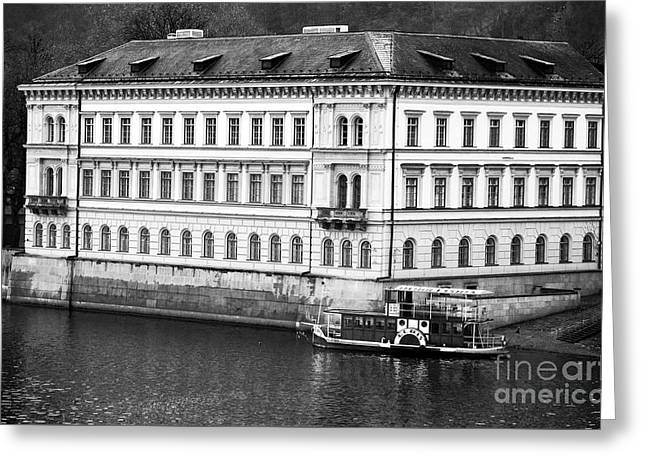 Vltava River History Greeting Card by John Rizzuto