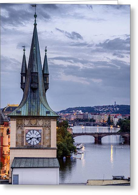 Vltava River In Prague Greeting Card