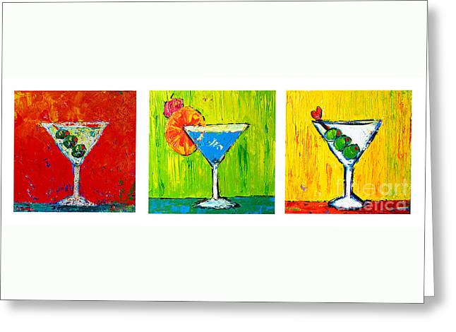 Vodka Martini Collection Bar Decor - Modern Art Greeting Card by Patricia Awapara