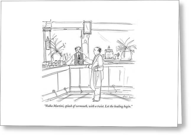 Vodka Martini Greeting Card by Richard Cline