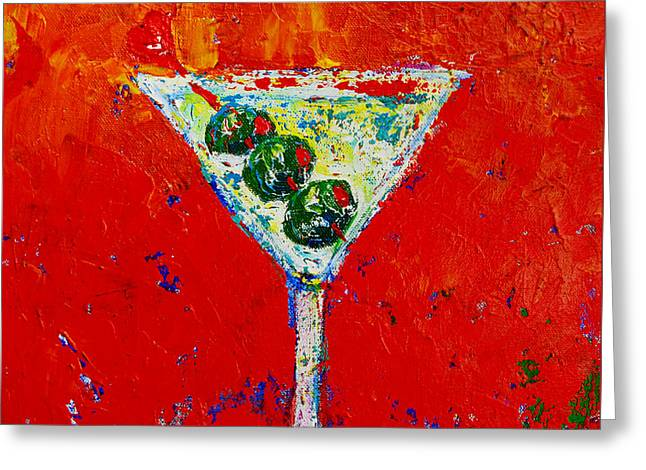 Vodka Martini Shaken Not Stirred - Martini Lovers - Modern Art Greeting Card
