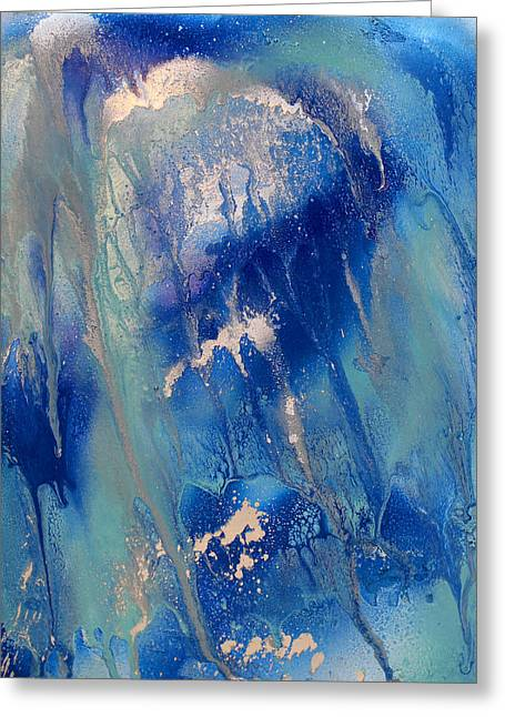 Voice Of The Ocean Diptych Part 1 Greeting Card