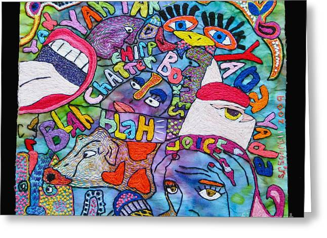 Voices In My Head Greeting Card by Susan Sorrell