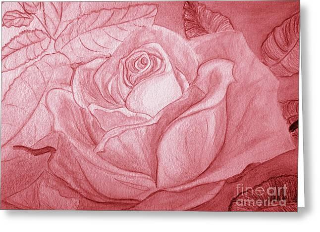 Voir La Vie En Rose Greeting Card by Heather  Hiland