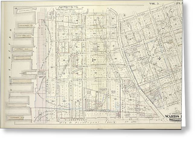 Vol. 5. Plate, C. Map Bound By Poplar St., Sands St., Jay Greeting Card