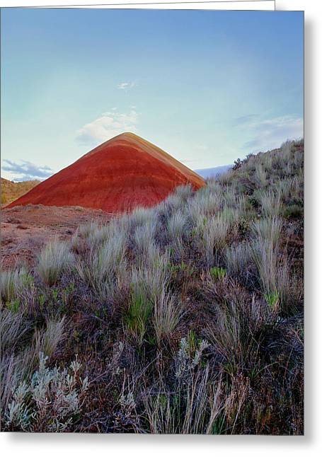 Volcanic Cinder Cone, Painted Hills Greeting Card