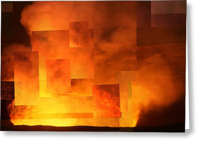 Volcanic Fire - Kilauea Caldera  Greeting Card