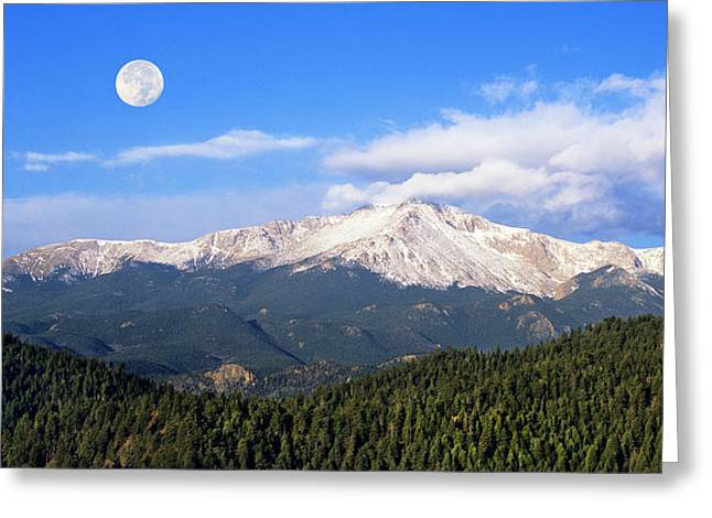 Volcanic Pikes Peak Greeting Card