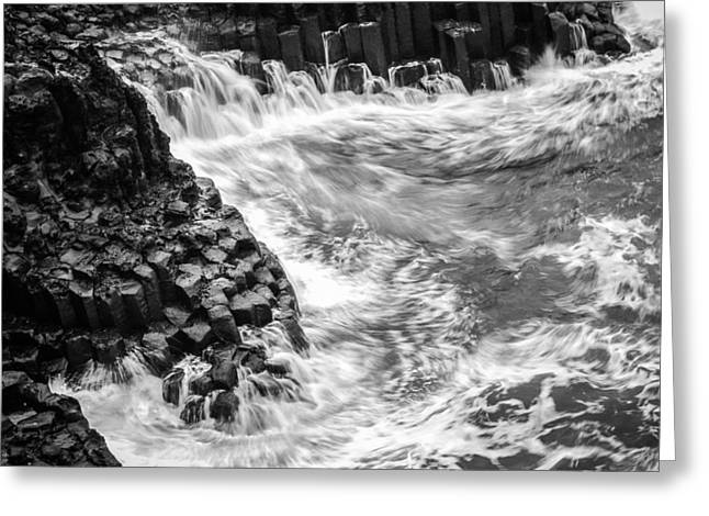 Volcanic Rocks And Water Greeting Card