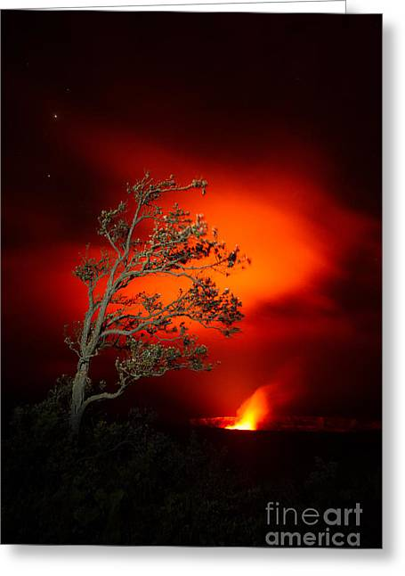 Volcano National Park Glow All Profits Go To Hospice Of The Calumet Area Greeting Card
