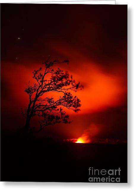 Volcano National Park Hawaii Greeting Card