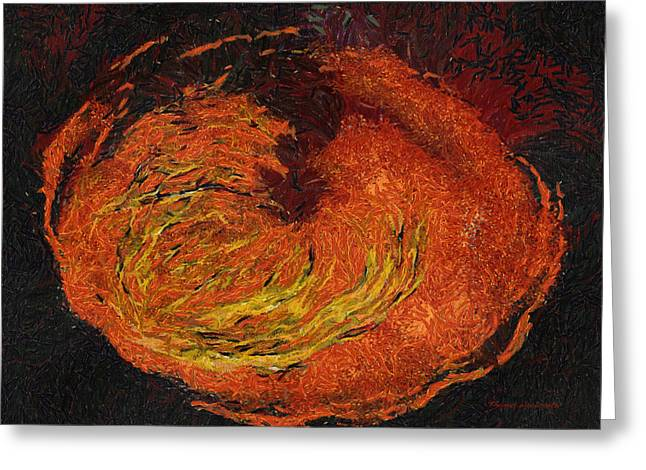 Volcano Photo Art 02 Greeting Card by Thomas Woolworth