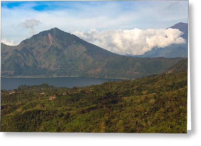 Greeting Card featuring the photograph Volcanoes - Bali by Matthew Onheiber