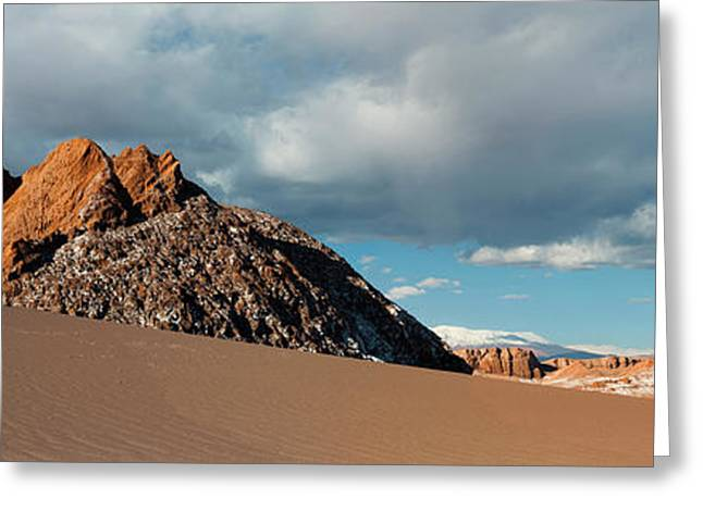 Volcanoes Licancabur And Juriques Seen Greeting Card by Panoramic Images
