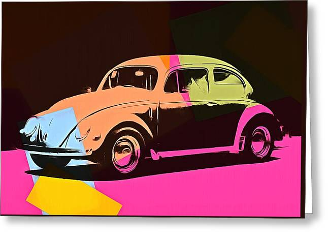 Volkswagen Beetle Pop Art 2 Greeting Card