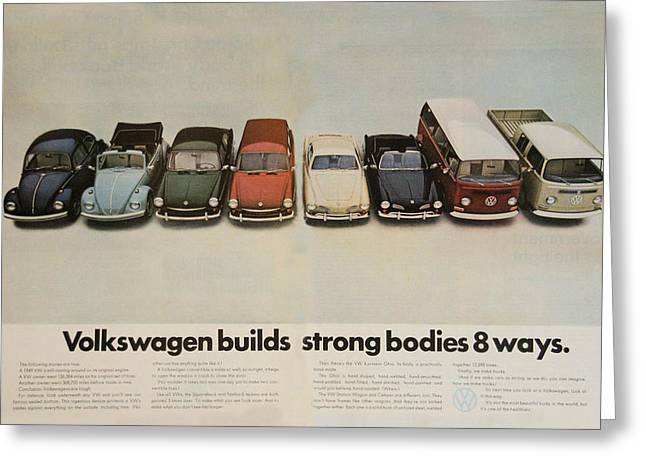 Volkswagen Body Facts Greeting Card by Georgia Fowler