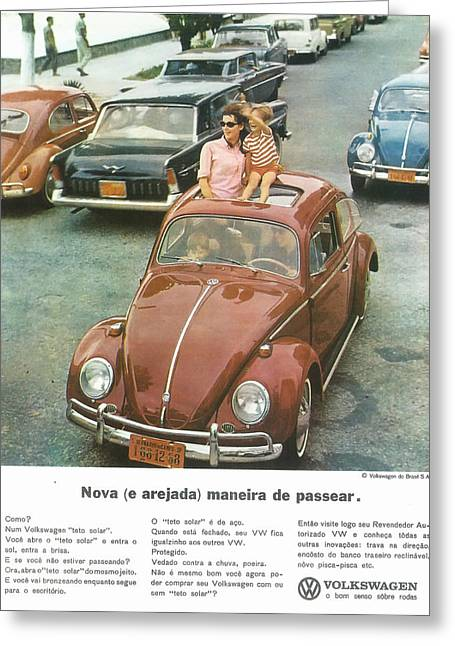 Volkswagen Type 1 1965 Brazil Greeting Card by Georgia Fowler