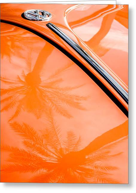 Volkswagen Vw Bug - Beetle Emblem -0164c Greeting Card by Jill Reger