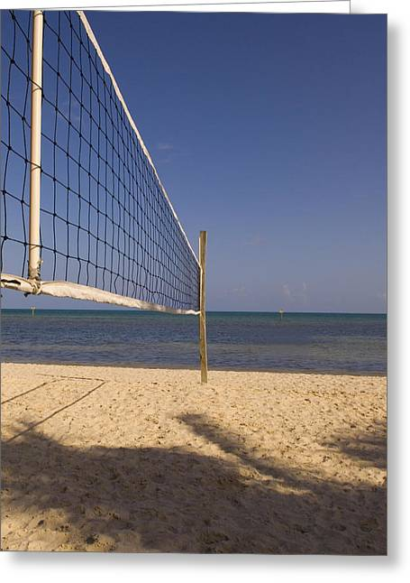 Greeting Card featuring the photograph Vollyball Net On The Beach by Bob Pardue