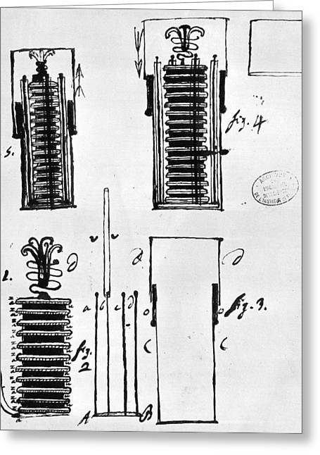Voltaic Pile, 1801 Greeting Card by Granger