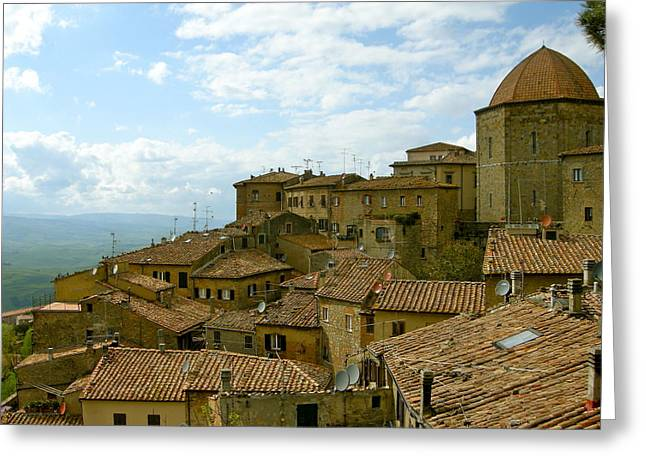 Greeting Card featuring the photograph Volterra by Victoria Lakes